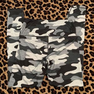 Reebok Camo Leggings Sz M